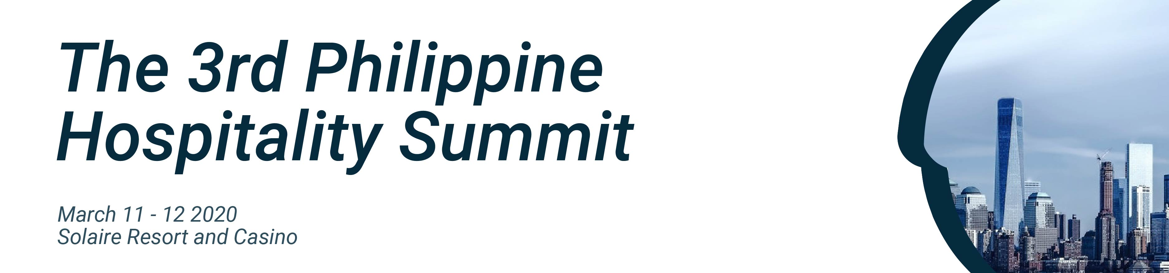 picture of the 3rd Philippine Hospitality Summit dates